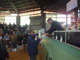 第160回南九州肥育牛共進会 表彰式の様子